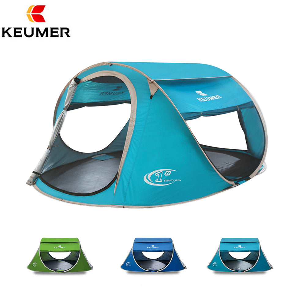 Instant Pop Up Open Large Automatic Setup Easy Foldable Shelter 240*180*100cm with anti-UV Coating Camping Tent