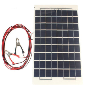 Portable 12V 10W Solar Panel Battery Charger For Boat Car Camping Supply Power Cells with Clips