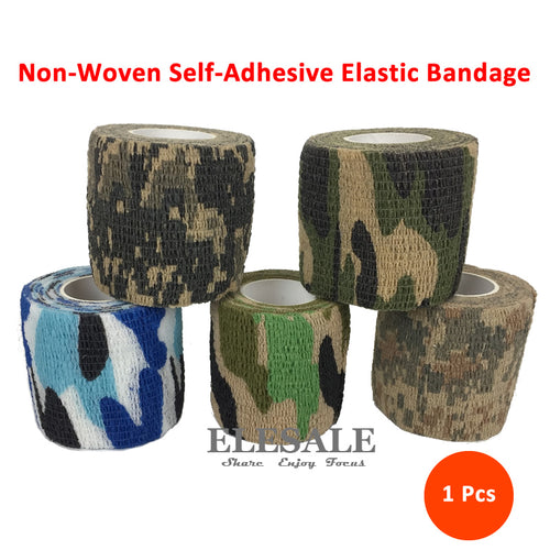 1pcs 5x 4.5cm Non-Woven Self-Adhesive Elastic Bandage Camouflage Tape For First Aid Kit