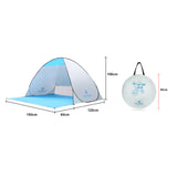 (120+60)*150*100cm Outdoor Automatic Instant Pop-up Anti UV Shelter Camping Fishing Hiking Picnic Beach Tent