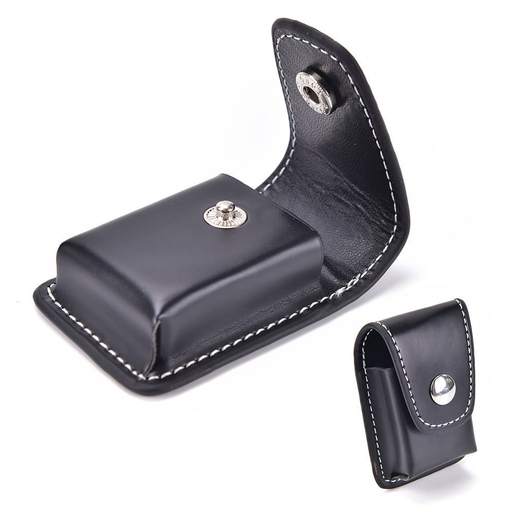 High Grade Leather Windproof Black Cover For Lighter Holder Cigarette Box Case For Zippo