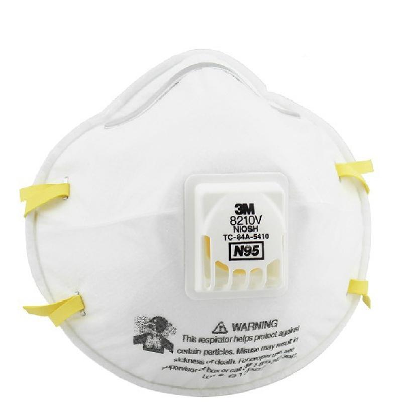 2pcs 3m Respirator Breathing Mask With Valve Pm2.5 Non Woven Fabric Folding Filter Safety N95 For Adult