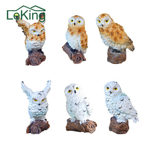 Miniature Owl House Fairy Garden Micro Landscape Outdoor Garden Decoration Plant Pots Bonsai Craft
