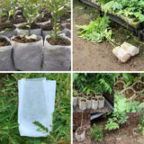100pcs Plant-Fiber Nursery Pots Seedling-Raising Bags Garden Supplies Can Degrade Environmental Protection Full All Size