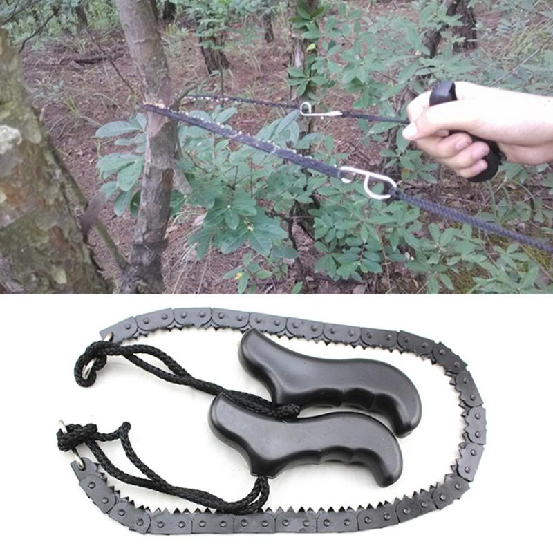 480mm Heavy duty Manganese Survival Wire Saw Camp Hike Outdoor Hunt Fish Tool Cut Cutter Fretsaw Bushcraft