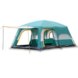 8-12 Person Large Waterproof Family Tents for Outdoor Double Layers Event Luxury Camping