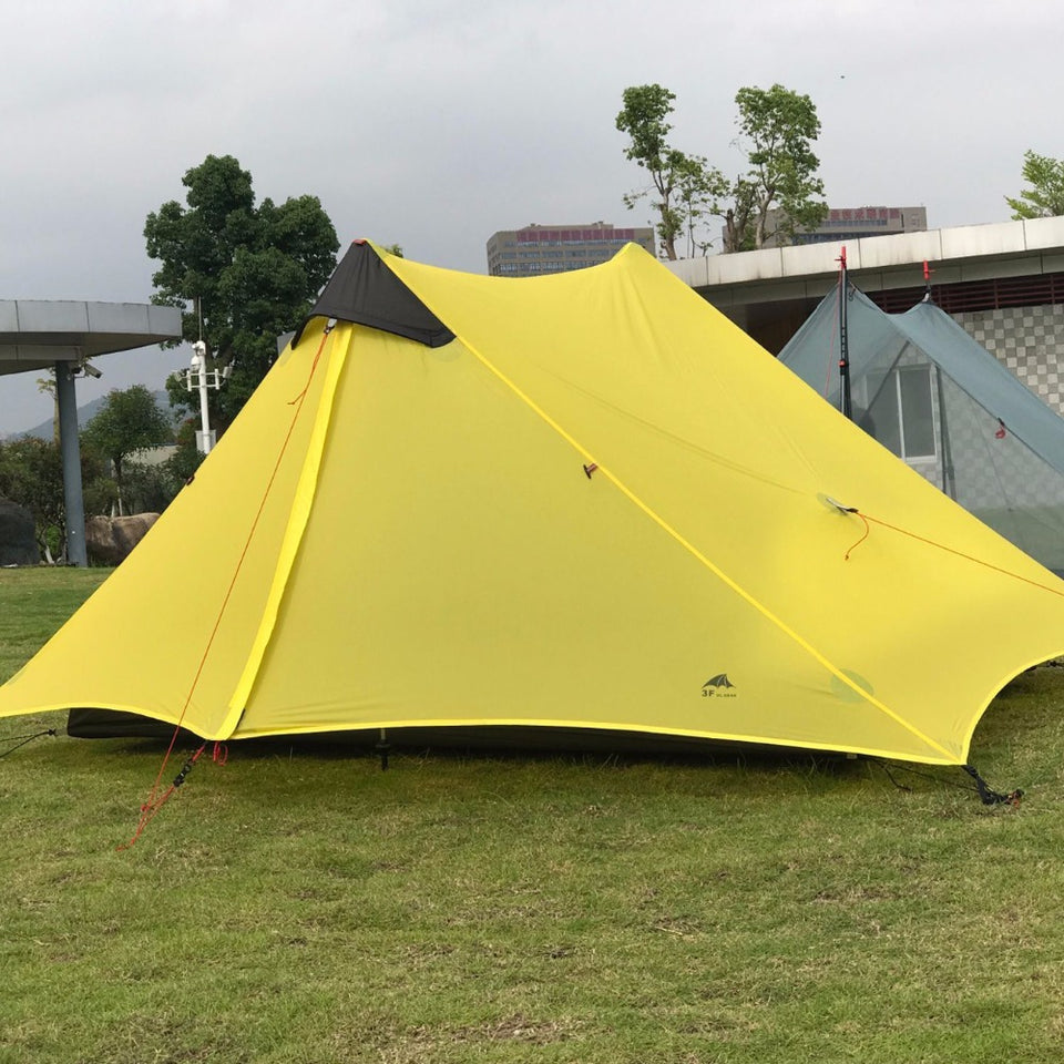 2-3F 2 Person Outdoor Ultralight Camping Season Professional 15D Silinylon Rodless Tent