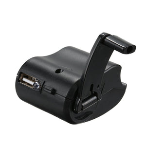 Mini Hand Crank USB Port Charger Portable Manual Dynamo Generator SOS  Emergency Survival Tool