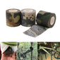 Non-woven Cohesive Bandage Self-adhesive Camouflage Camping Hunting Stealth Tape 5m