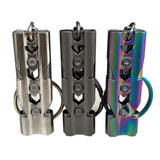 High Decibel Stainless Double Pipe Keychain Outdoor Emergency Survival Whistle