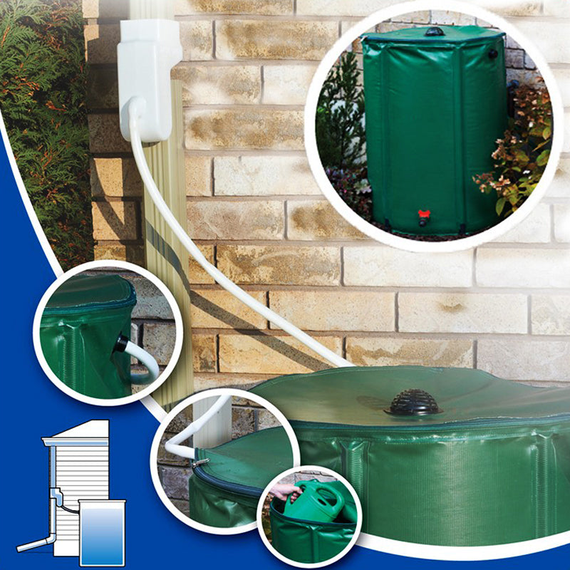 100L Water Tank With Strong Collapsible PVC Tarpaulin Plastic Rain Collector