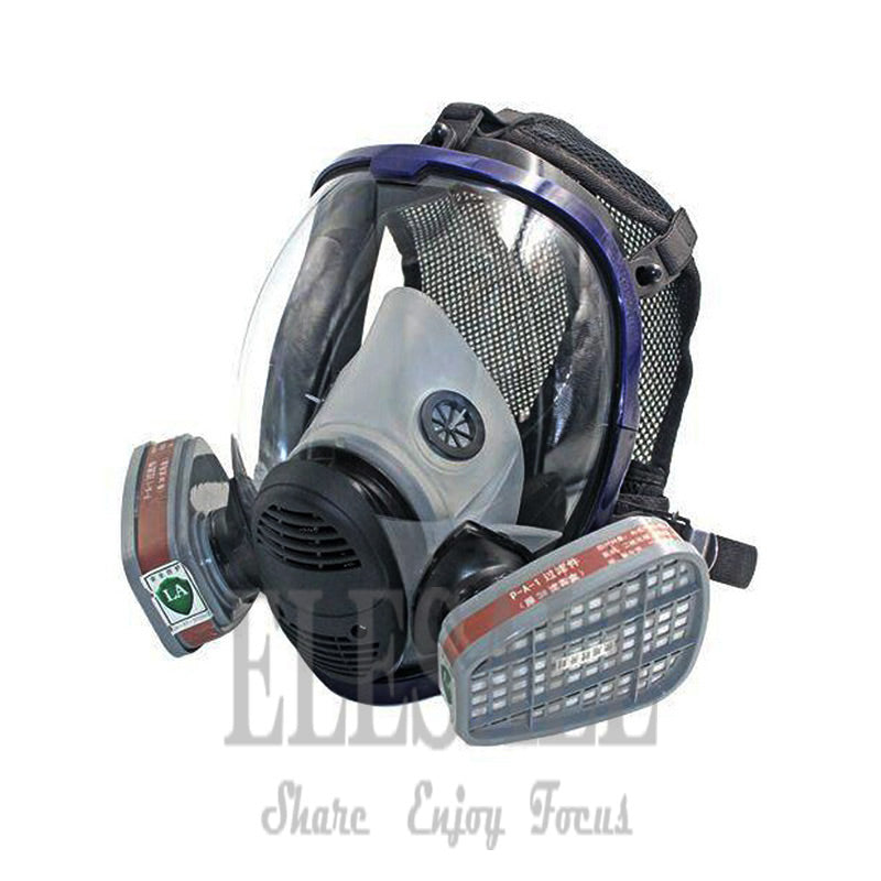 Industrial 7-In-1 6800 Full Gas Mask Respirator With Filtering Cartridge For Painting Spraying Similar For 3M 6800