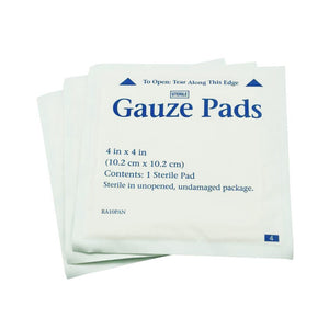 50Pcs 10.2cm*10.2cm Medical Wound Dressing Pad Cotton Sterile Gauze Pads