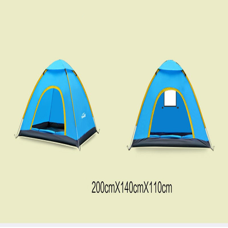 Ultralight 2 Person Quick Open Waterproof  Fully Automatic Anti UV Single Layer Beach Camping Tent