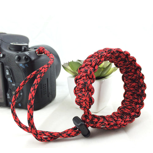 Digital Camera Wrist Hand Strap Grip Outdoor Paracord Bracelet for Nikon Canon Sony Pentax Minolta Panasonic SLR DSLR