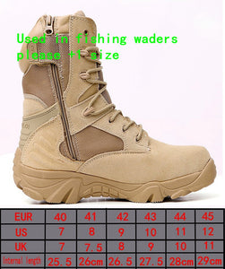 Tactical Hunting Shoes Waders Quick-drying Rubber For Outdoor Trekking Sport Hiking Men's Boots