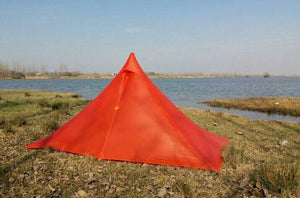 Ultralight 1 Person High Quality 15D 20D 2 Side Nylon Pyramid Silicone Tent For Outdoor Camping 265*170*135cm