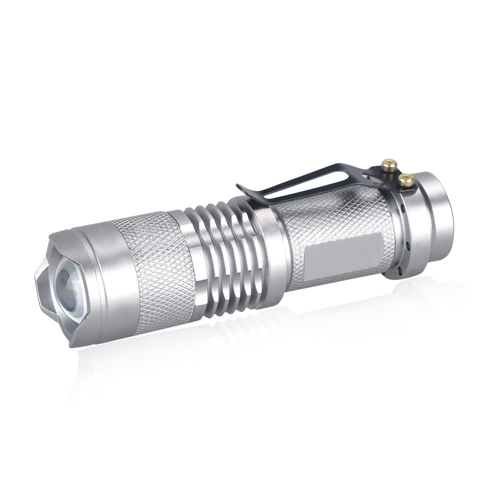 Adjustable Focus Mini Flashlight Q5 2000 Lumens LED Flashlight Torch Lantern AA 14500 Torch LED Mount