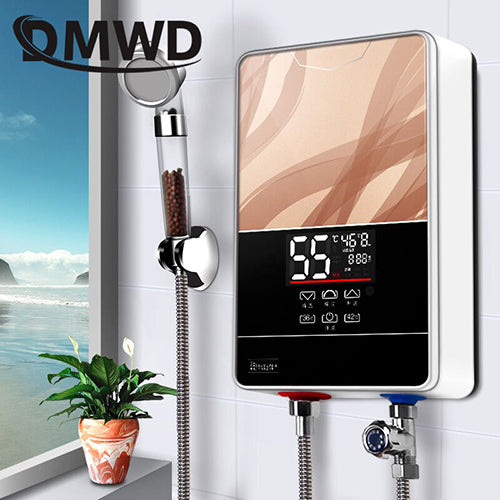 DMWD Instant Tankless Electric Water Heater with LED Display