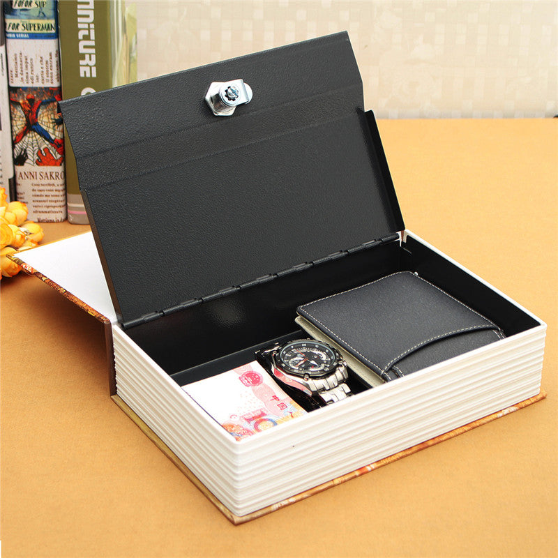 Durable  Home Security Dictionary Book Hidden Safe Cash Jewelry Storage Key Lock Box Deco 24.2*15*5.5cm