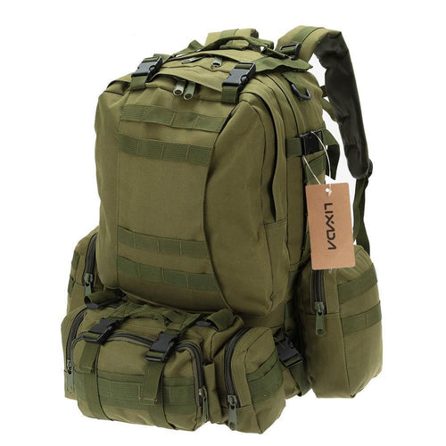 50L Outdoor Military Molle Tactical Backpack Rucksack Hiking Camping Water Resistant Bags 600D Camouflage
