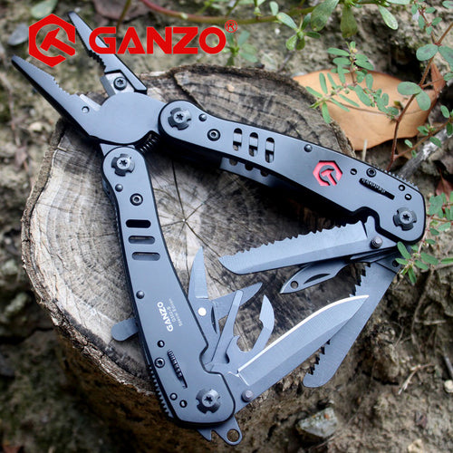 G302B Folding Plier Multi Tool 26 in 1 Multifunction Tungsten Cutter Outdoor Camping
