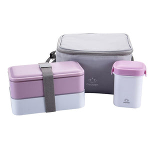 High Quality Japanese Bento Lunch Box Water Soup Mug Insulated Cooler Food Container Microwaveable