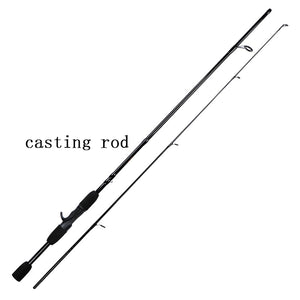 IBUN 1.8m 2.1  2 Segments fishing rod M Power line wt.6-15lb lure wt.1/8-3/4oz Carbon Spinning Casting Lure Fishing Rod