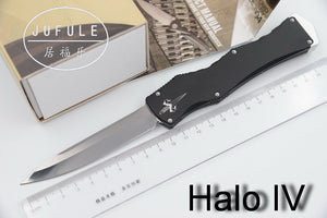 Halo V5 Troodon D2 Blade Aluminum Handle Camping Hunting Survival Outdoor Dinner Kitchen Knife Set