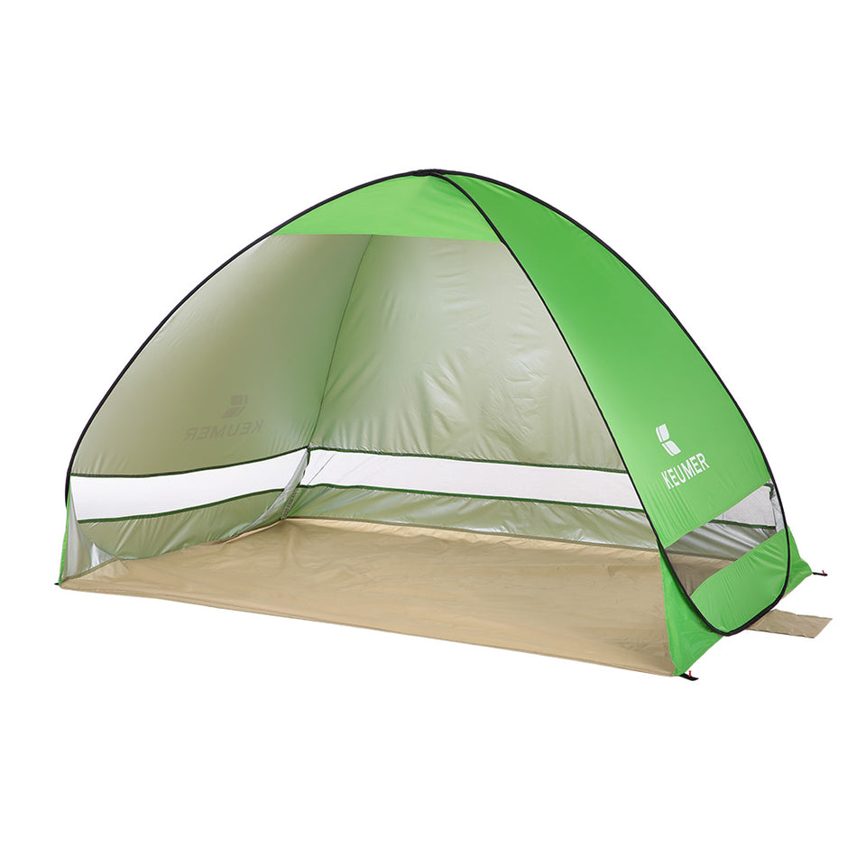 2 Persons Automatic Outdoor Instant Pop-up Summer Camping Anti UV Shelter Fishing Hiking Picnic Beach Tent
