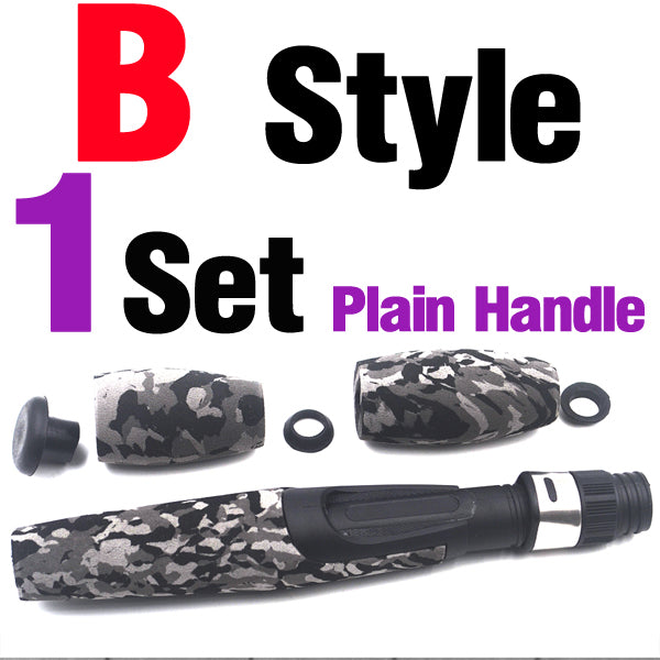 1Set Camoulage EVA Split Grip Bait Cast & Spinning Fishing Handle Rear Grip With Reel Seat for Rod Building