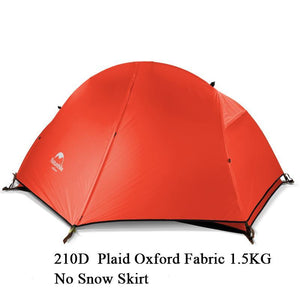 1 Person Tent With Camping Mat 20D Silicone Fabric Ultralight Double Layers Aluminum Rod 1.3kg 1.5kg