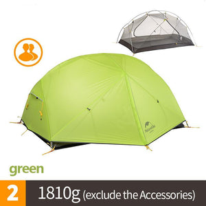 Mongar 3 Season Camping 20D Nylon Fabic Double Layer Waterproof Tent for 2 Persons