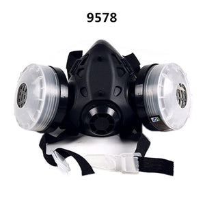 Half Face Gas Mask With Anti-fog Glasses N95 Chemical Filter Breathing Respirators for Painting Spray Welding