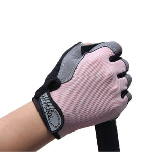Outdoor Sports Half Finger GEL Gloves Men Women Gym Fitness Weight Lifting Workout Jogging Running Exercise Training