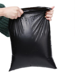 25*35cm Black Poly Self-Adhesive Plastic Bags 100pcs