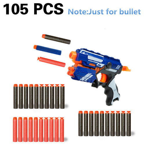 105pcs Soft Bullets For Airguns Plastic Military Sucker Warhead Dart Hollow Hole Head For Nerf Toy Gun