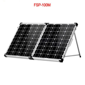 100W (2Pcs x 50W) Foldable Solar Panel 18V +10A 12V/24V Controller Solar Battery Cell/Module/System Charger