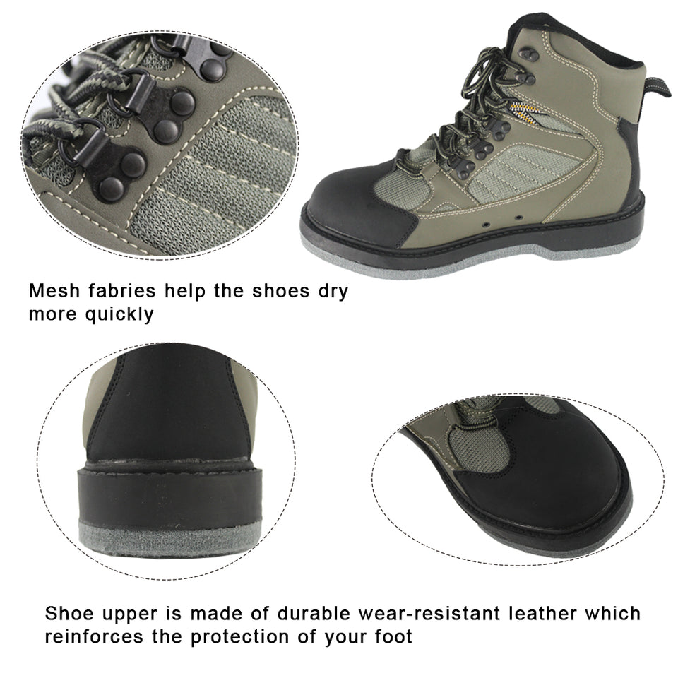 Men's Fast Drying Fabric Anti-slip Wading Fishing Outdoor Shoes Hunting Boots