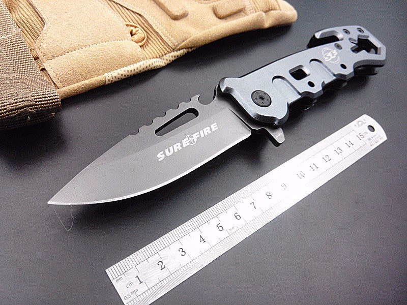 Outdoor Survival Folding Knife SF Rescue Camping Tactical Pocket Hand Multi Functional Tool 440c Blade