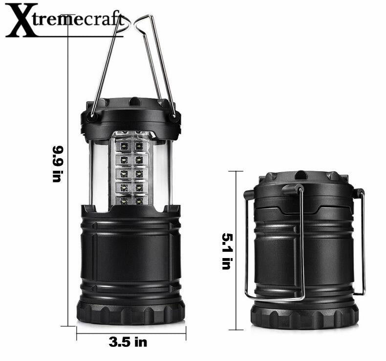 Collapsible 30 LED Lightweight Portable Lantern Hanging Lamp For Emergencies Hiking Camping