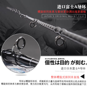 Full Fuji Parts Slow Jigging Fishing Rod 1.9M PE 3-5 Lure Weight 80-350G 15kgsShipping/casting