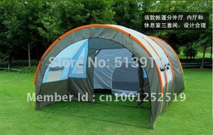 10 Persons Capacity Large Family Camping Tunnel Party Tent