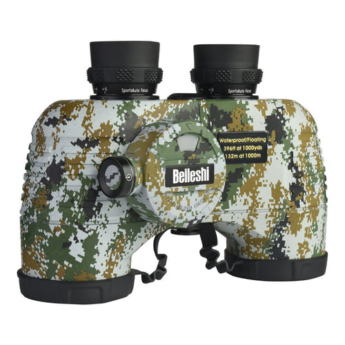 Portable Floating Military Compass Binocular Waterproof Shock-proof Telescope with Light for Outdoor Travel Hunting