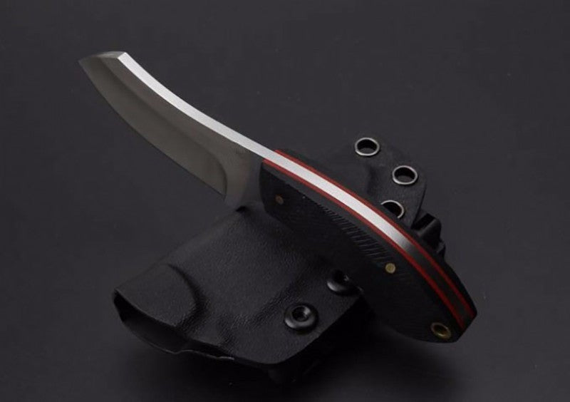 KYDEX Sheath Hunting Skinning Knife Stainless Steel Fixed Blade