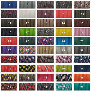 108 Colors 550 Parachute Cord Lanyard Rope Mil Spec Type III 7 Strand 100FT Climbing Camping Survival Equipment