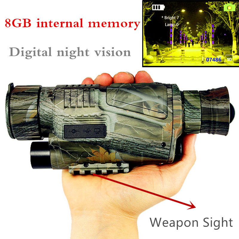 Tactical Infrared Night Vision Digital Monocular HD Powerful Weapon Sight For Hunting And Shooting