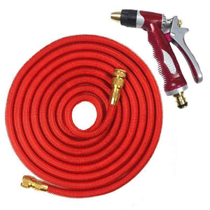 igh Quality 25ft-100ft Garden Expandable Flexible Hose Plastic Pipe With Copper Head For Watering
