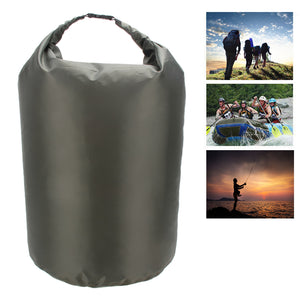 Portable 70L Waterproof Dry Bag Outdoor Camping Phone Holder Clothes Compressed Storage Bag for Water Sports Canoe Kayak Rafting