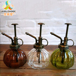 Vintage Glass Garden Decoration Gardening Watering Cans